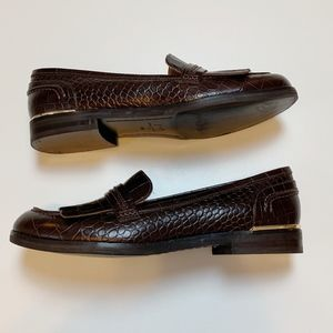 Marc Fisher Shoes - Marc Fisher Brown Royer Kiltie Loafers 7.5